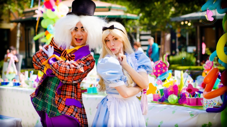 tea party mad hatter alice in wonderland characters los angeles